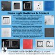 Glass Switch Glass  Touch & Remote Light Switch 2 Gang 1 Way White CA-AN02 WH